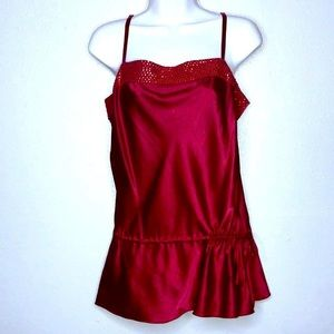 EXPRESS | SILK Red Tank Top Blouse